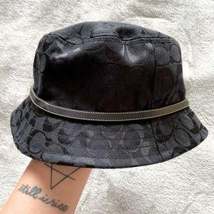Coach Monogram Black Bucket Hat
